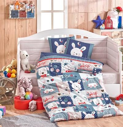 Snoopy Navy Blue - Linge de lit pour bébé (8698499132375)