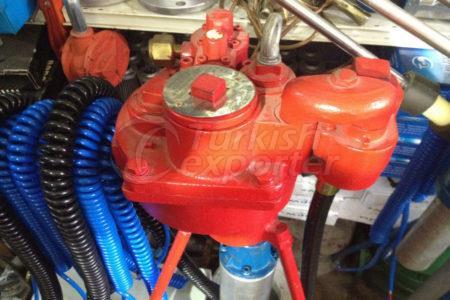 Bomba submersível de jaqueta vermelha