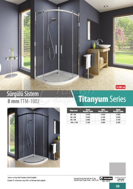 Shower Cabin Sliding Titanyum