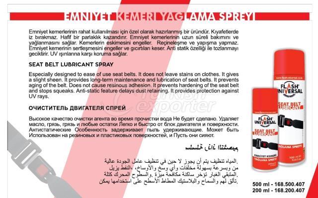 Safety Belt Lubrication Spray