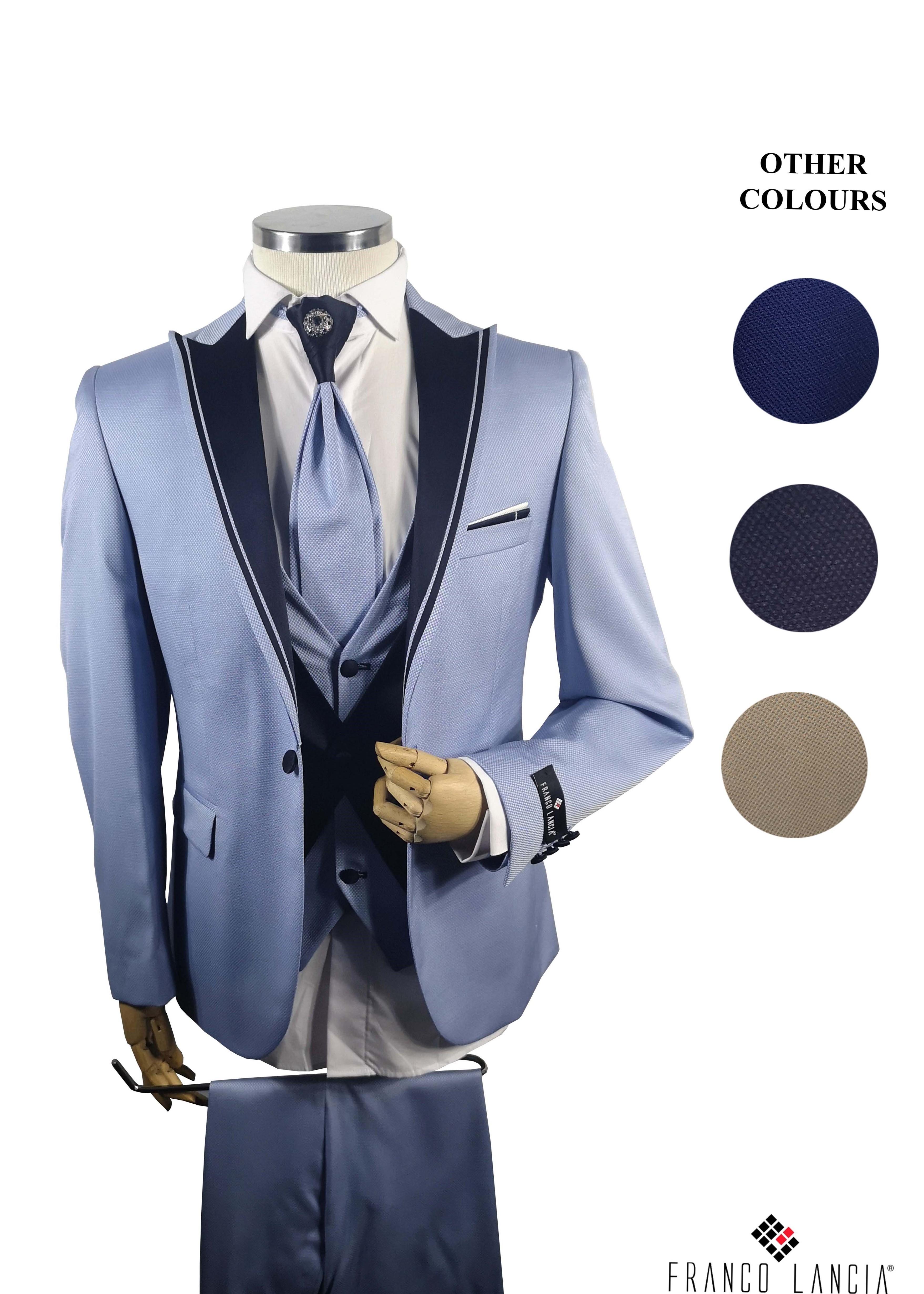 Ice Blue Single Breasted Tuxedo