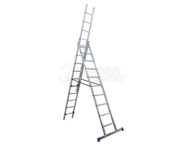 3 Section Aluminum Indurtrial Ladder A Type