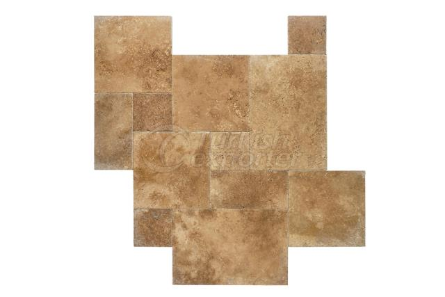 Walnut Tumbled French Pattern Marble