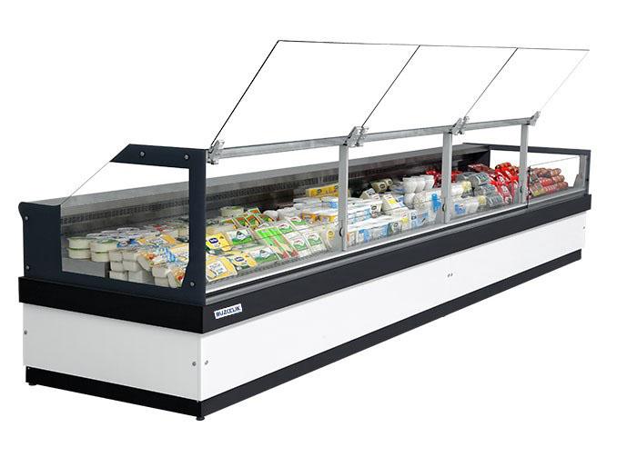 flat glass serve over showcase