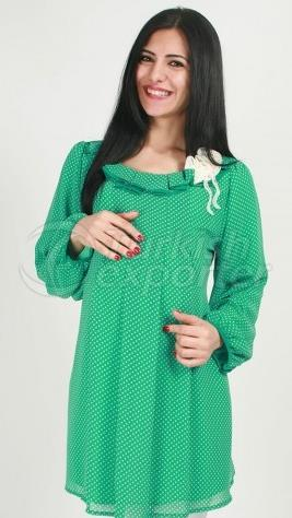 Maternity Wear Mini Line Pattern Slip Sleeve Tunic