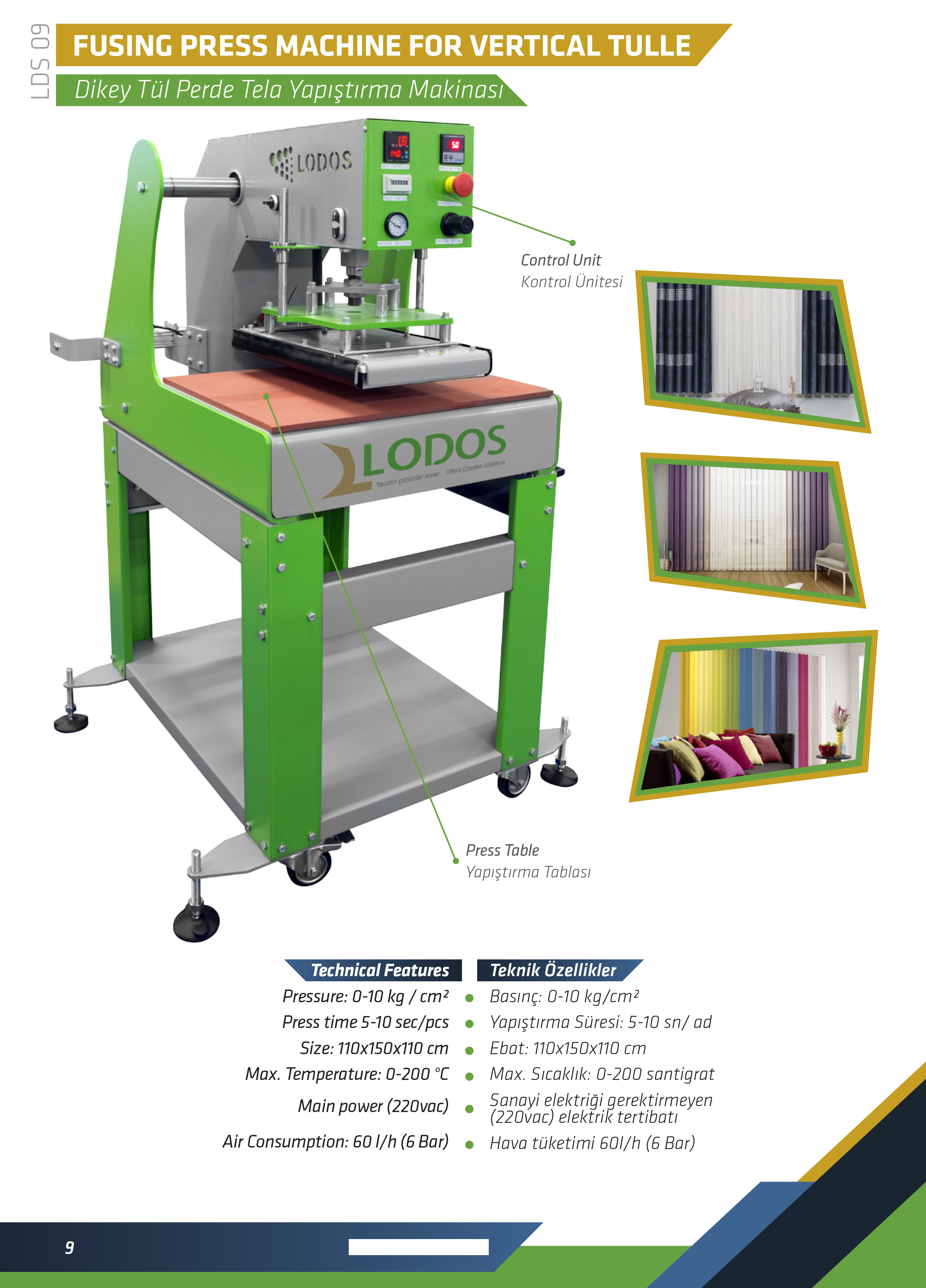FUSING PRESS MACHINE FOR VERTICAL TULLE