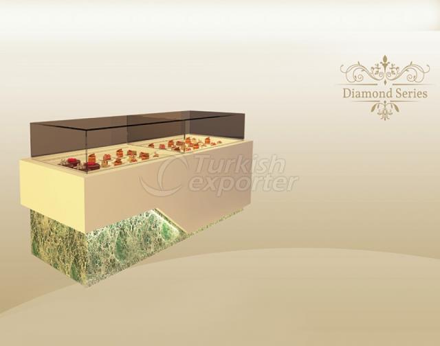 Rayon de pastelaria de série de diamante