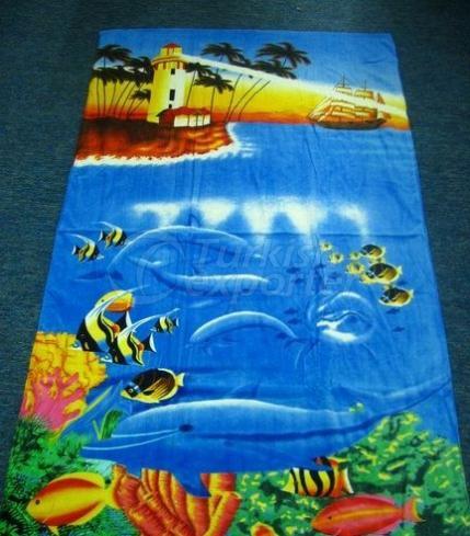 Serviettes de plage imprimées MTX703