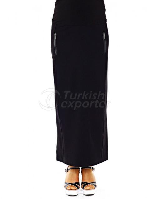 Maternity Clothes Zipper Pocket Skirt