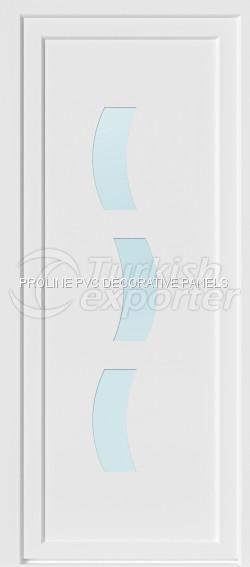 Panneaux de porte en PVC plat 10008