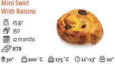 Mini Raisins Swirl