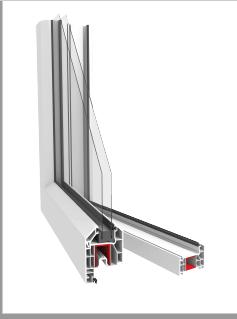 u-PVC PROFILE TITANIUM SERIAL